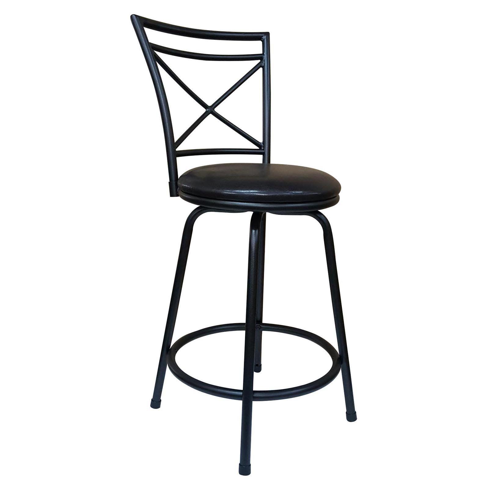 Incredible Roundhill Furniture Ciniya Adjustable Height Metal Bar Stool Theyellowbook Wood Chair Design Ideas Theyellowbookinfo