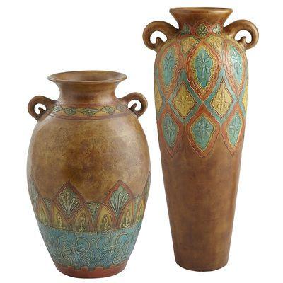 Terracotta Embossed Floor Vases Floor Vase Vase Ceramic Urn