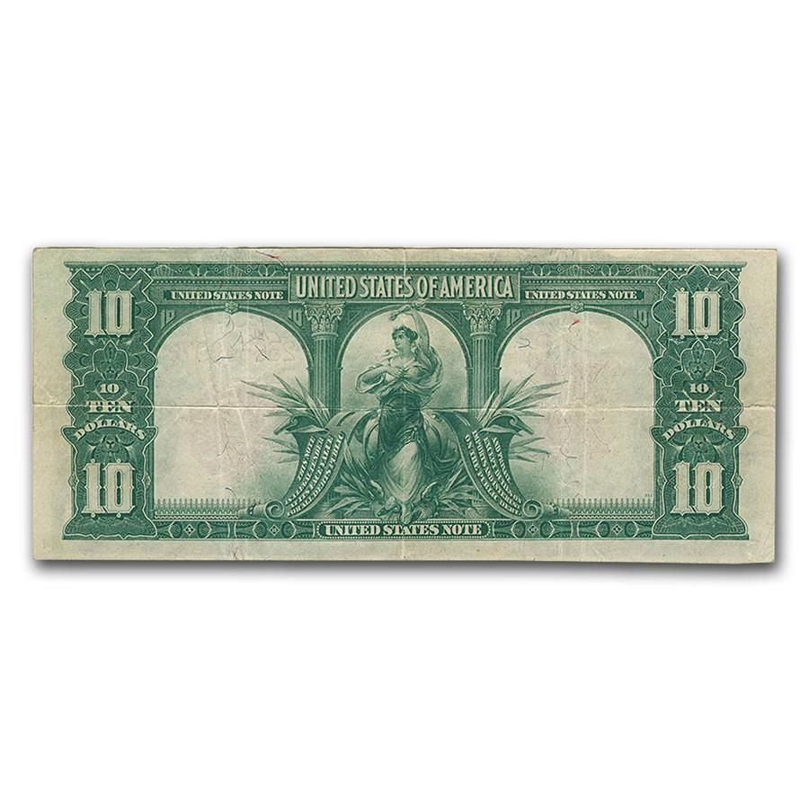 For Purchase 1901 10 Lewis Clark Bison Paper Currency Bill Us Note Red Seal Fine Vf Includes Sealed Holder Year Type