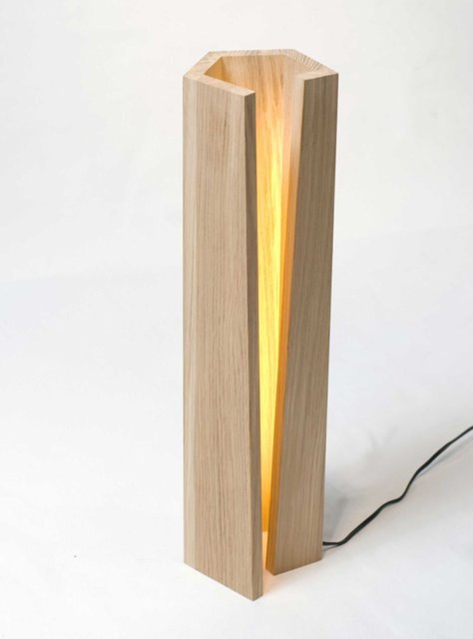 Inspirational image wooden lamp with interesting light for Used wood floor lamp