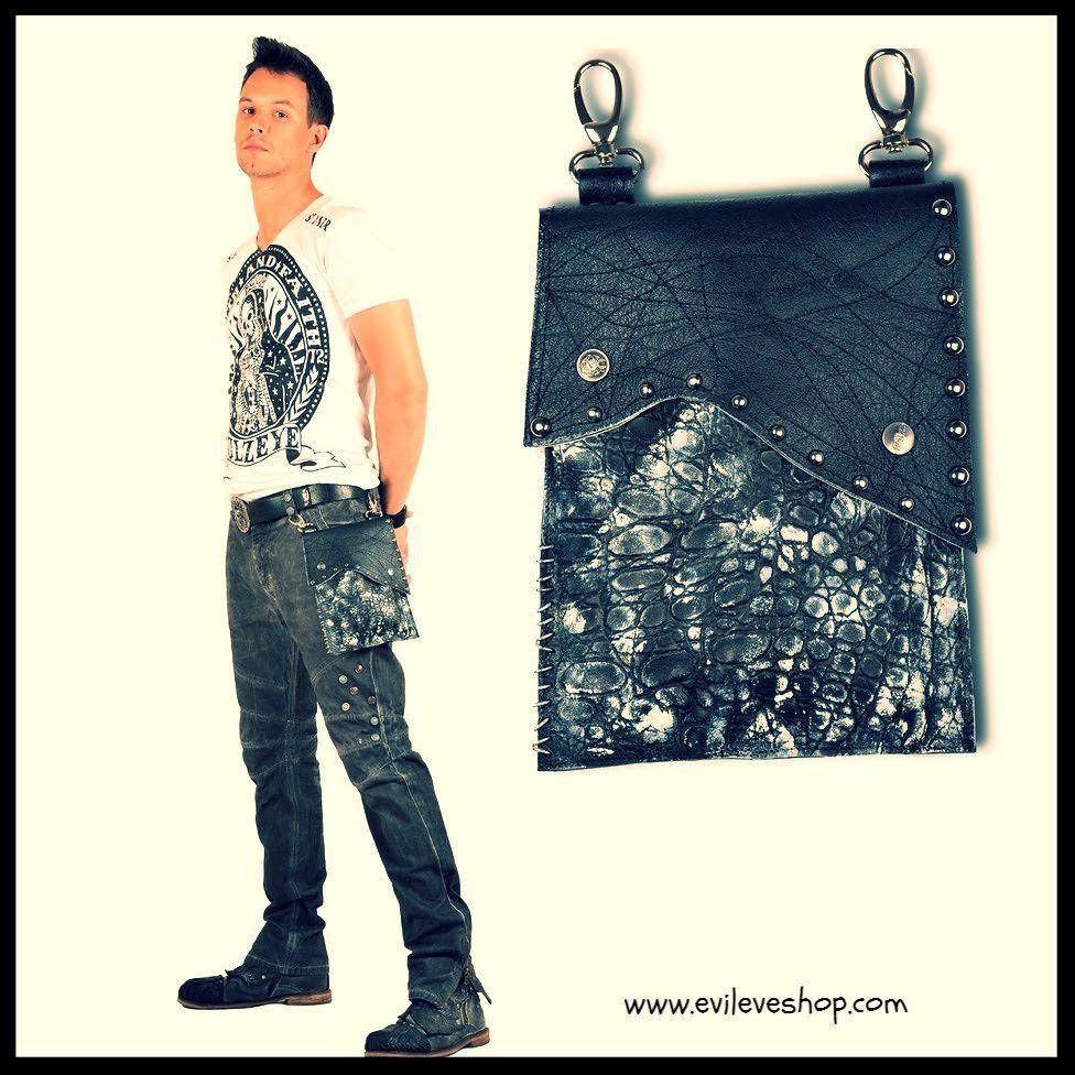 Detachable utility bag for men  #EvilEveDesign #EvaBreznikar #leatherbag #utilitybag #leatherfashion #handmade #handmadeleather #handmadejewelry #jewellery #handcrafted #luxuryfashion #fashionista #fashionpost #fashionstyle #fashionaddict #fashiondesigner #fashionable #fashionlover #instafashion #fashionjewelry #ljubljana #slovenia #linkinbio #evileveshop