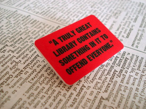 082af84818e Offensive Books quote brooch by bookity on Etsy on Wanelo