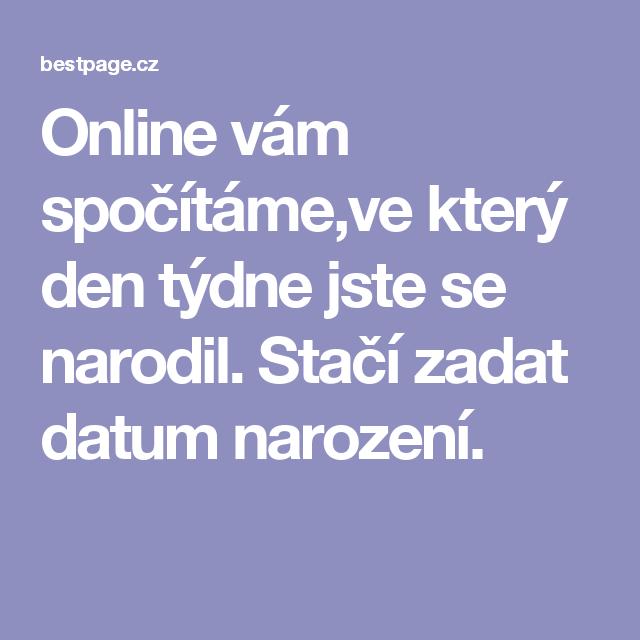 Datum narození online