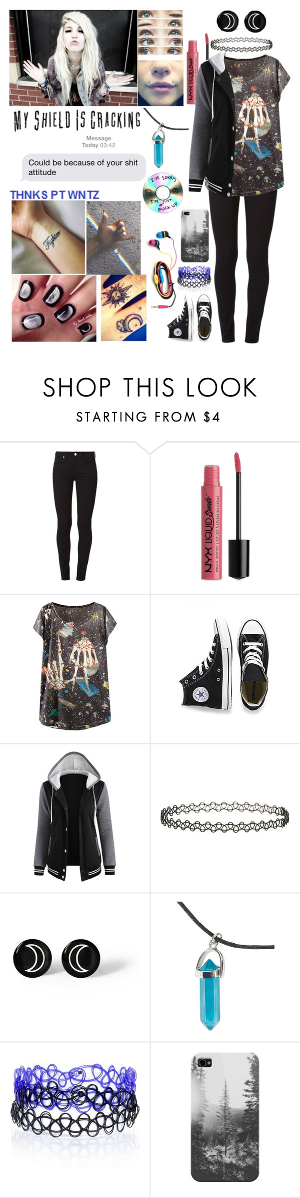 """""""Thnks pt wntz"""" by emmcg915 ❤ liked on Polyvore featuring dVb Victoria Beckham, NYX, Converse, Topshop, Brinley Co, River Island and Casetify"""