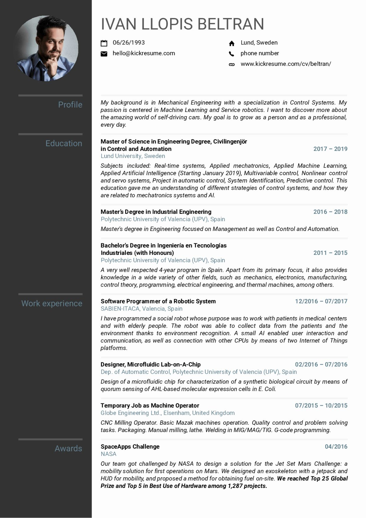 Mechanical Engineer Resume Sample Fresh Resume Examples By Real People Volvo Mechanical Enginee Mechanical Engineer Resume Internship Resume Engineering Resume