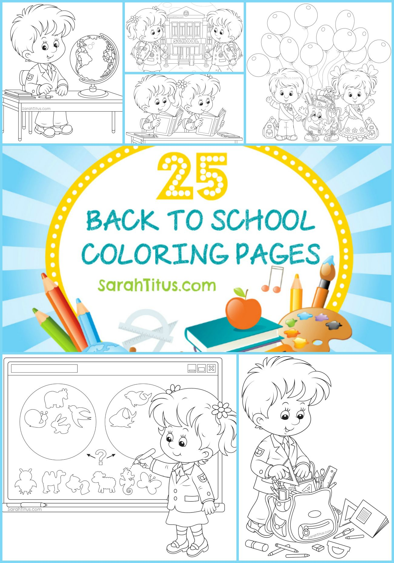 25 Back to School Coloring Pages #backtoschool #b2s