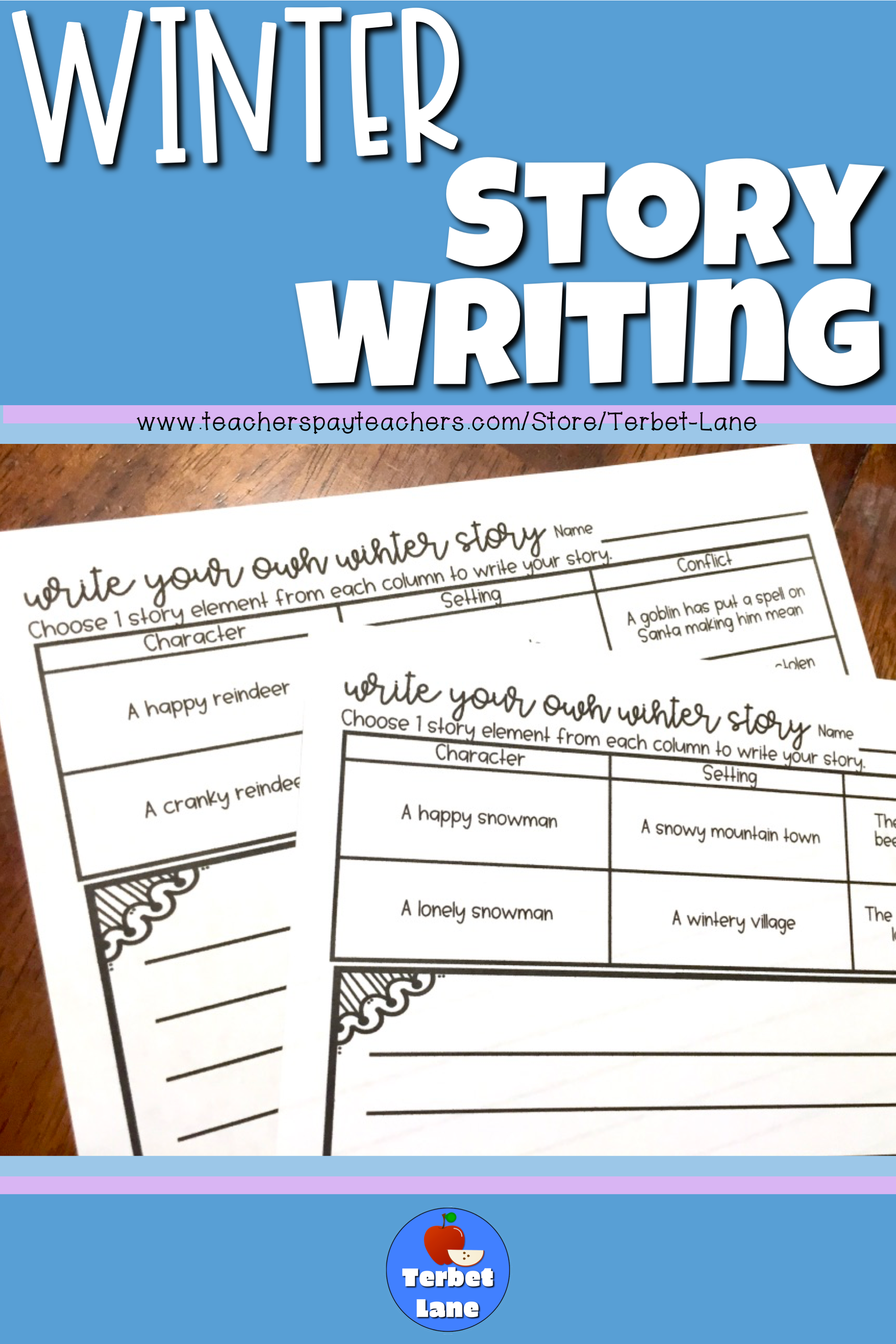 Winter Story Writing Worksheets