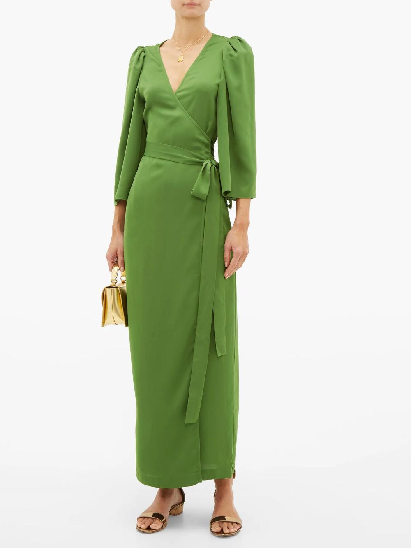 Elliot Wraparound Crepe Maxi Dress Rhode Matchesfashion Uk Maxi Dress Maxi Dress With Sleeves Dresses [ 1332 x 1000 Pixel ]