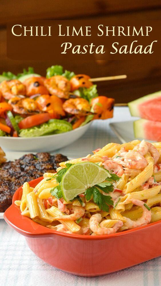 Penne Pasta Salad With Shrimp Chili Lime Recipe Best Food