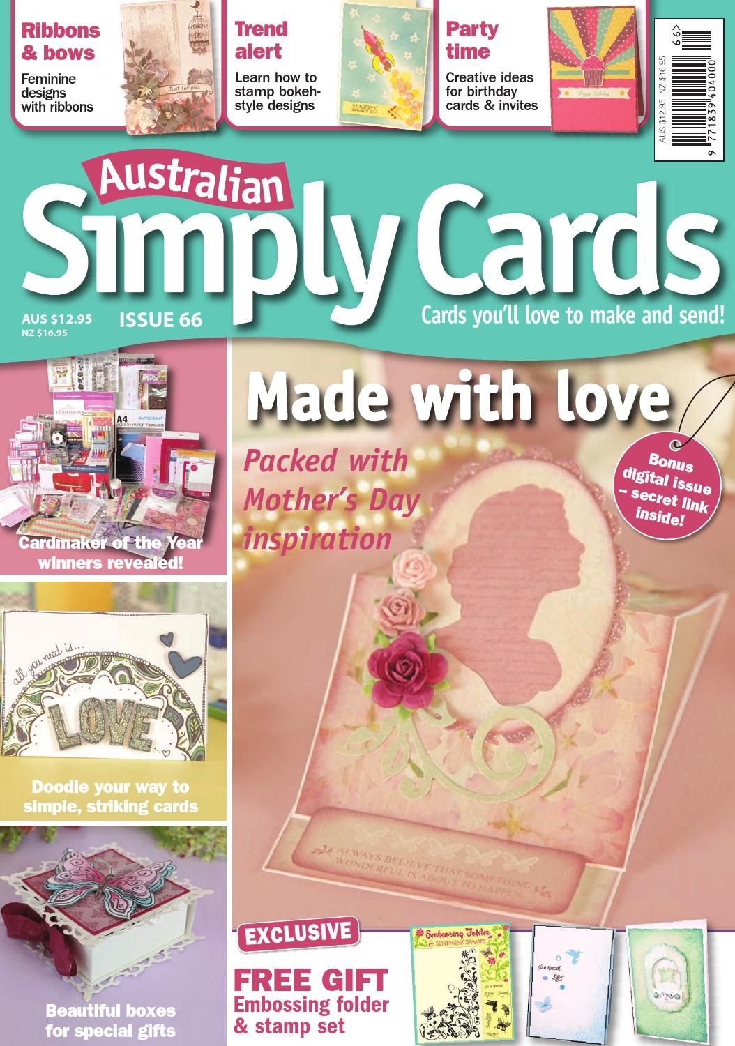 Australian Simply Cards 66 Preview Card Making Ideas Paper