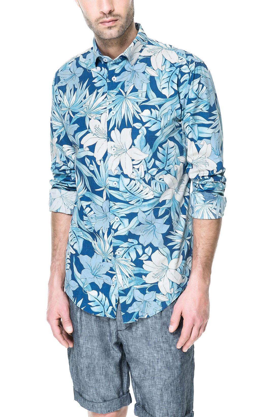 FLORAL PRINT SHIRT - Shirts - Man   ZARA Canada   hawaiian shirts ... b884c26e6dd
