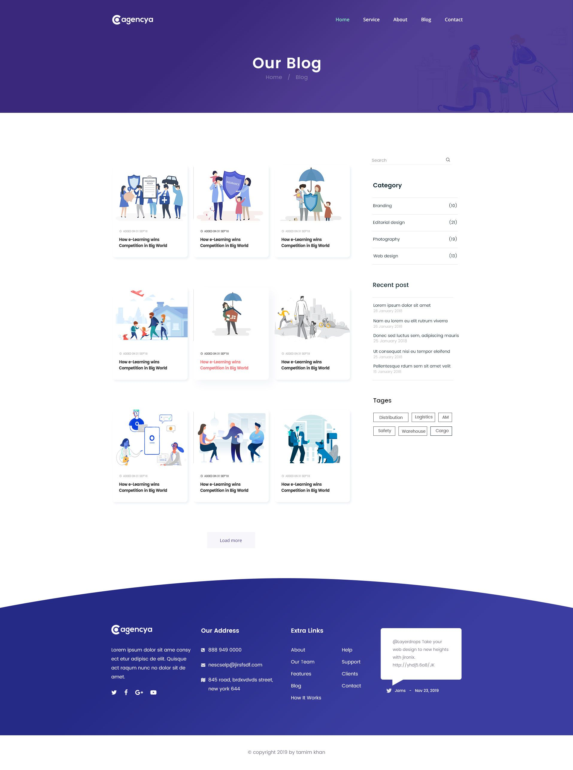 Agencya Insurance Agency Psd Template Psd Templates Templates