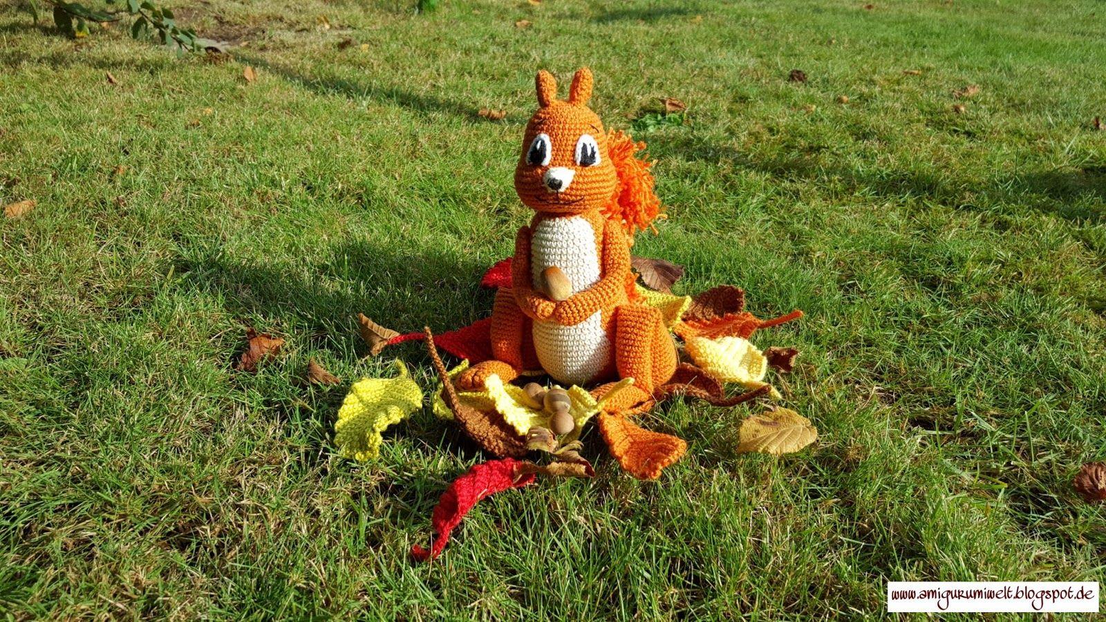Amigurumi Crochet Häkeln Kostenlos Free Cal Squirrel
