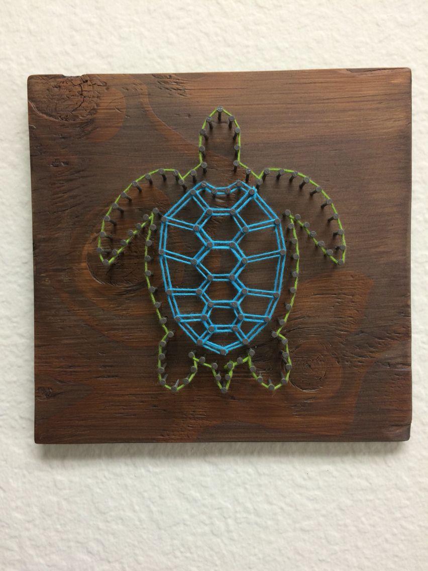 String Art Sea Turtle String Art Pinteres