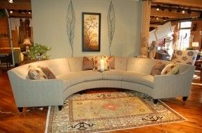 Round Leather Sectional - Foter