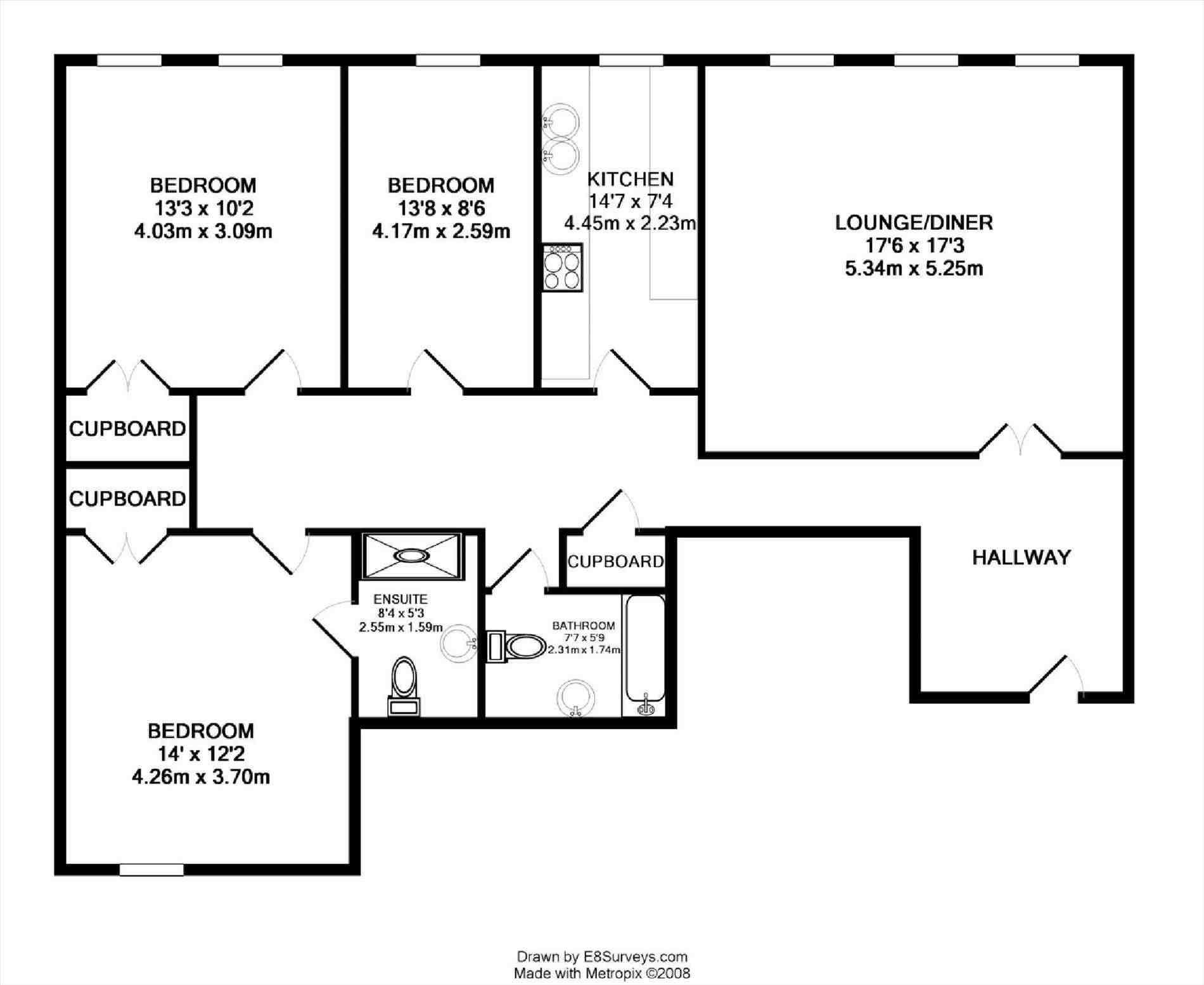 Apartment Plans 3 Bedroom Floor Plan