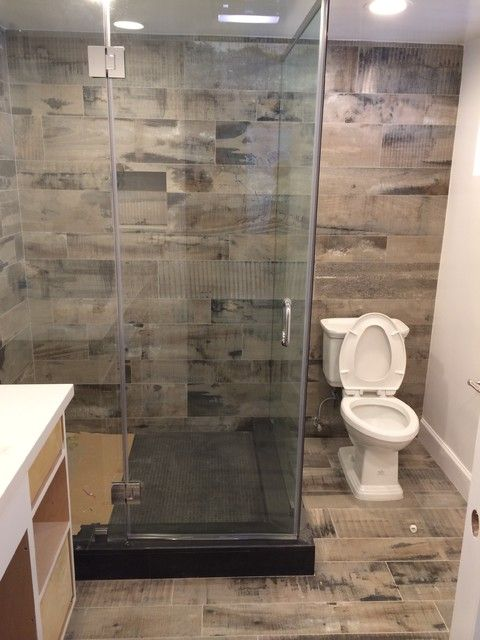 Image Result For Wood Plank Tile Bathroom Rustic