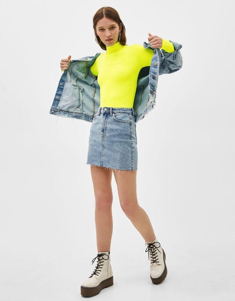 35f7c4a9 Neon Bodysuit | Bershka #newin #trend #trendy #cool #fashion #outfit #ideas  #inspiration #look #woman #mujer #new #in #bershka #bershkacollection #moda  ...