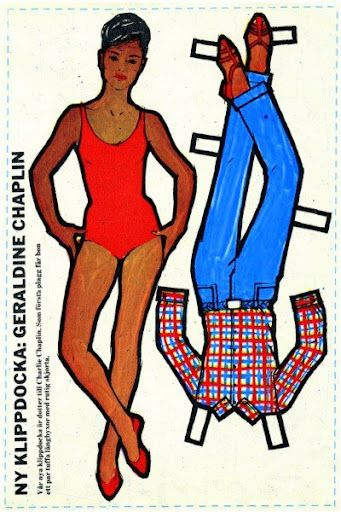 Swedish paper doll of Geraldine Chaplin / eBay