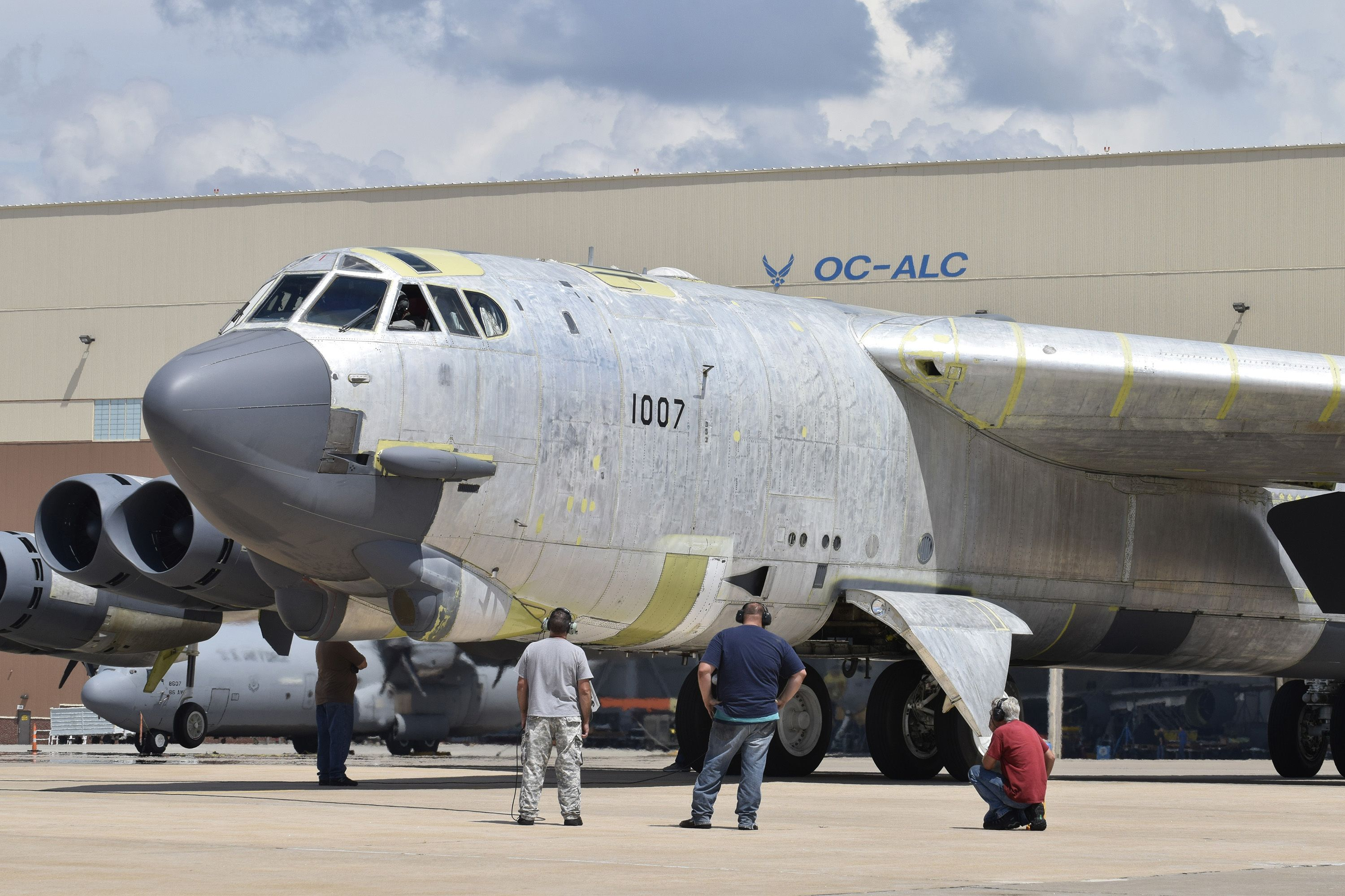 B52H 'Ghostrider' being brought back into service from