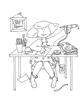 Free Dearie Dolls Digi Stamps: Craft Room