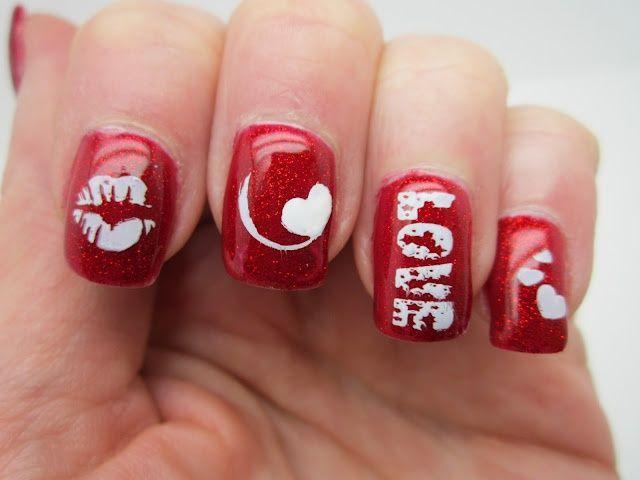 Creative Nail Polish Red Love Valentine Nails Pinterest