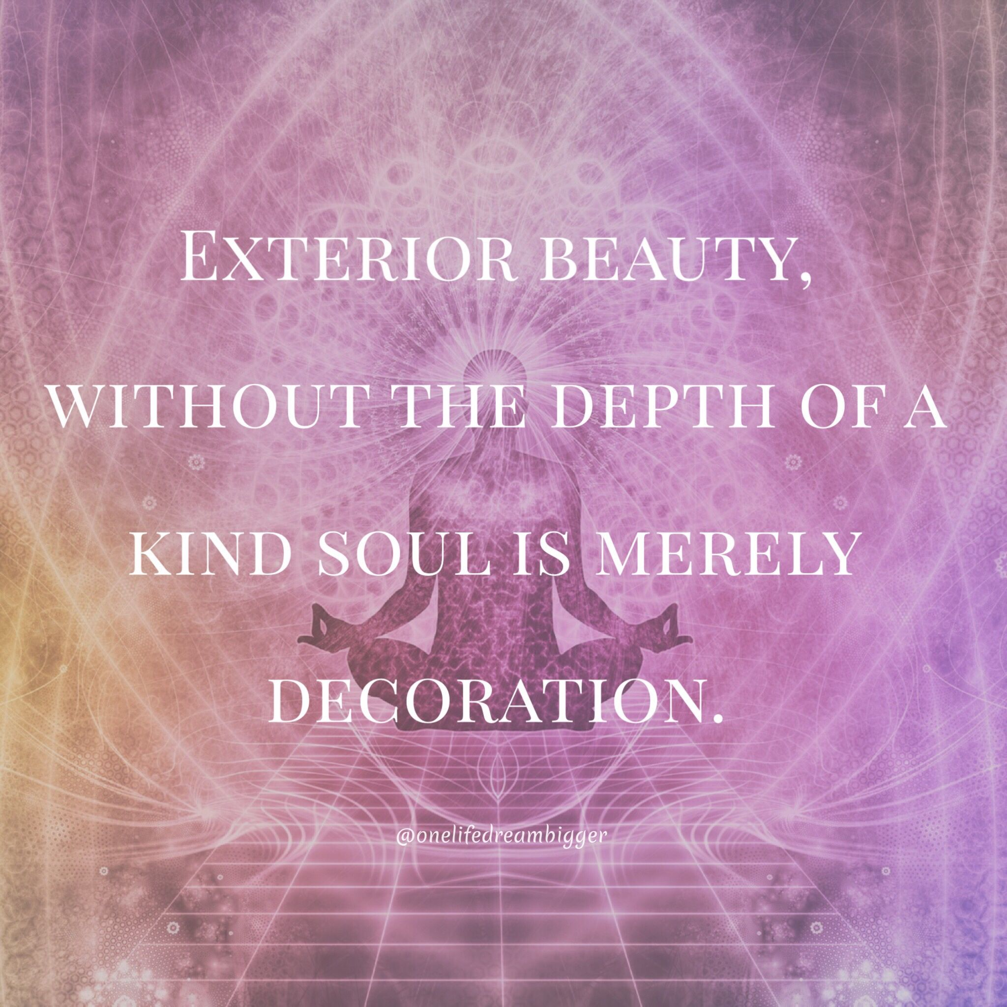 Exterior beauty without the depth of a kind soul is for Exterior beauty quotes