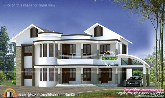 3000 Sq Ft Mixed Roof Modern Home Modern House Facades Contemporary House Design Kerala House Design
