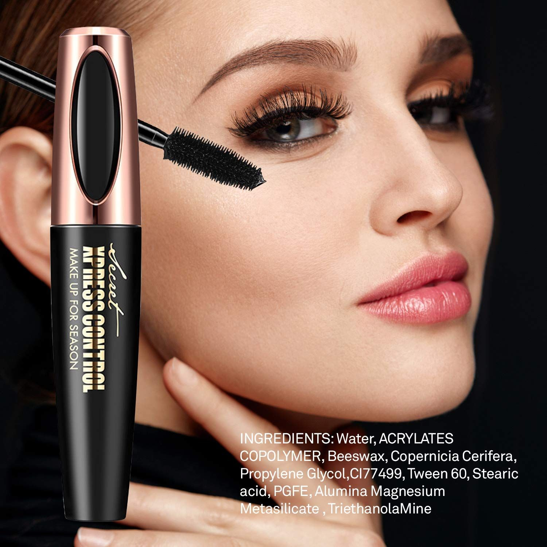 Asavea 4d Silk Fiber Lash Mascara Waterproof Luxuriously Longer