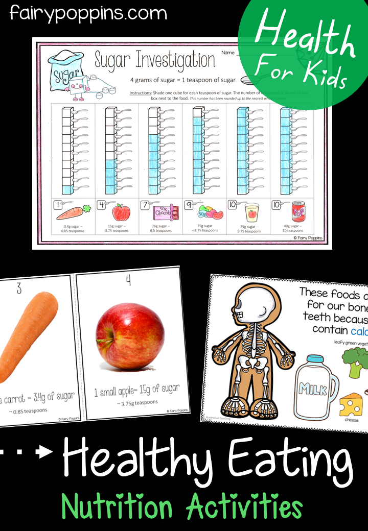 Healthy Eating Activities For Kids is part of Nutrition healthy eating, Healthy food activities, Kids nutrition, Health lessons, Health activities, Group meals - These healthy eating activities and worksheets help kids to learn about nutrition, food groups and how to make healthy food choices  Early Childhood Health