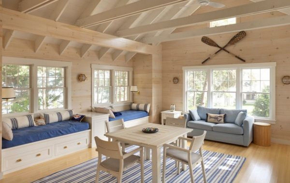 Beach Themed Family Room Gallery Of Nautical With Daft Storage Daybeds And