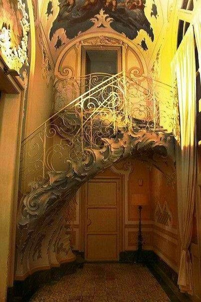 Beautiful ornate Stairway