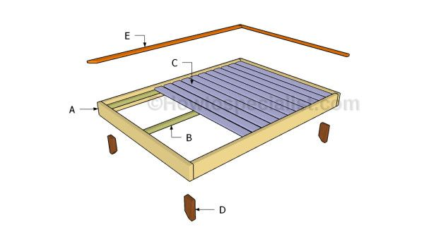 Full size platform bed plans | Free bed frame plans | Pinterest ...