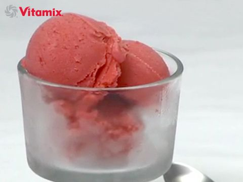 Vitamix Vegan Spiced Strawberry Ice Cream - Looking for fabulous Vitamix Ice Cream Recipes? This vegan strawberry ice cream is super easy and DELICIOUS!