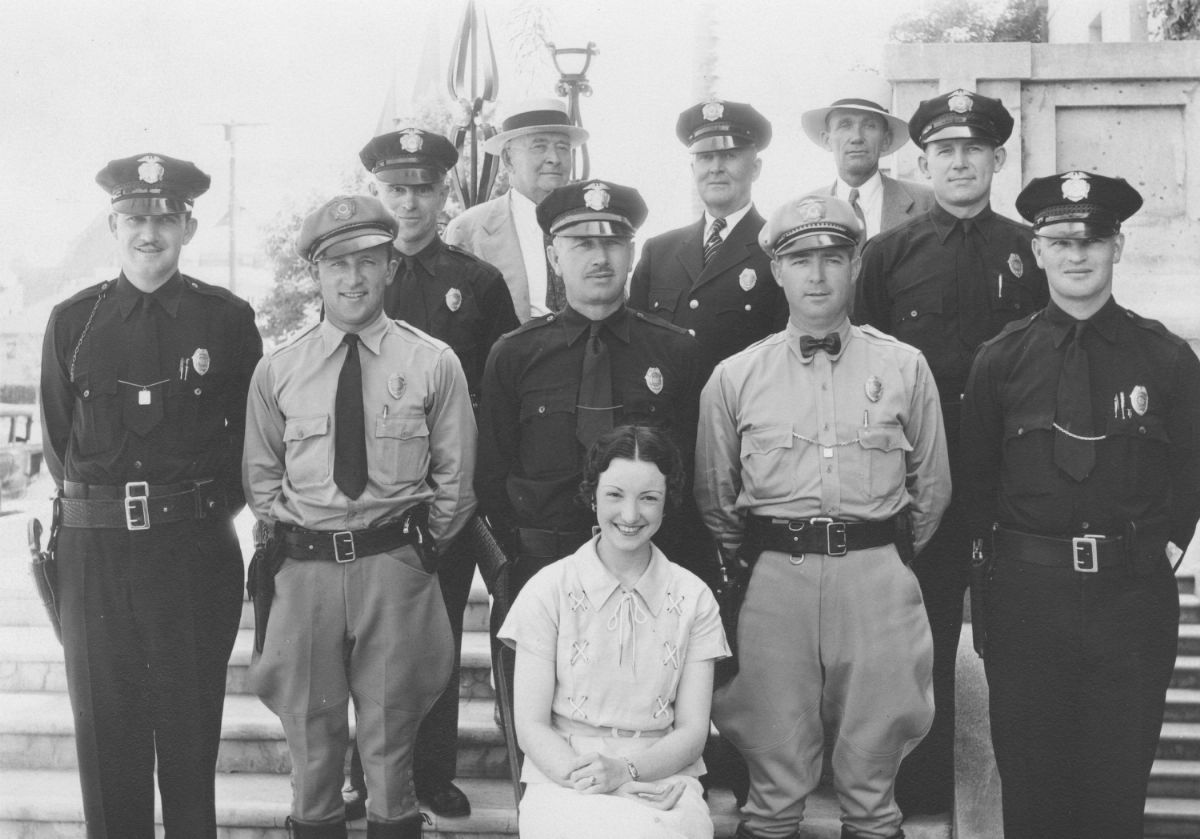 Orange Police Department, Orange CA 1935; Calisphere/Orange Public Library
