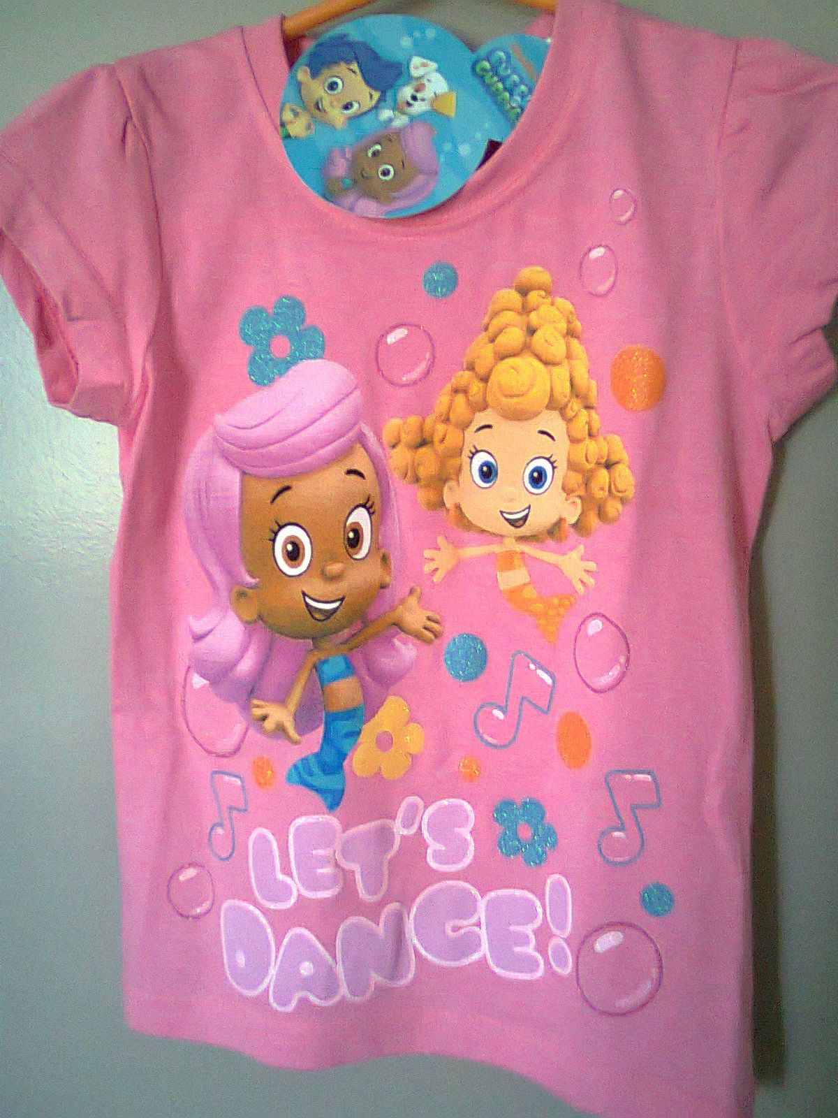 NWT Bubble Guppies T-shirt SIZE 4 Molly and Deema Let\'s Dance