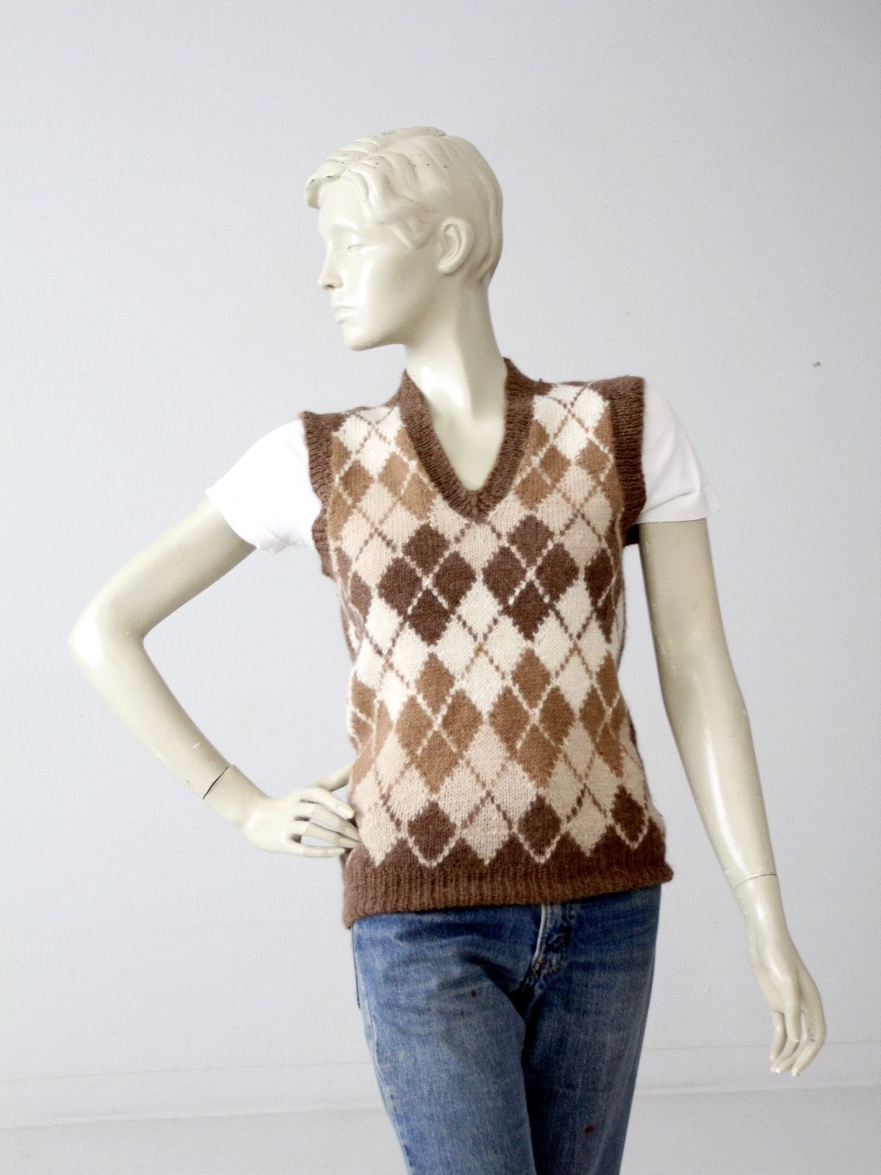 vintage 70s Nordstrom's alpaca sweater vest | Alpacas and Products
