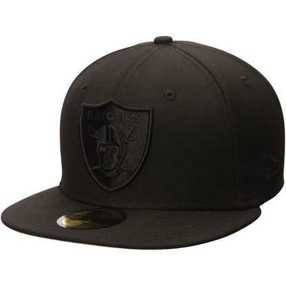 839248bc380 Men s Oakland Raiders New Era Black Tonal 59FIFTY Fitted Hat ...