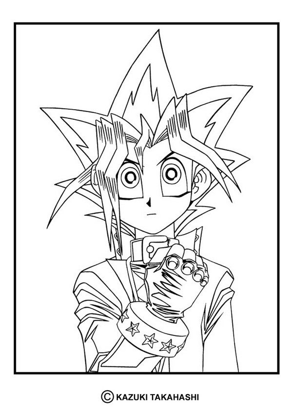 Yu-Gi-Oh coloring page. Enjoy!   Manga coloring pages   Pinterest