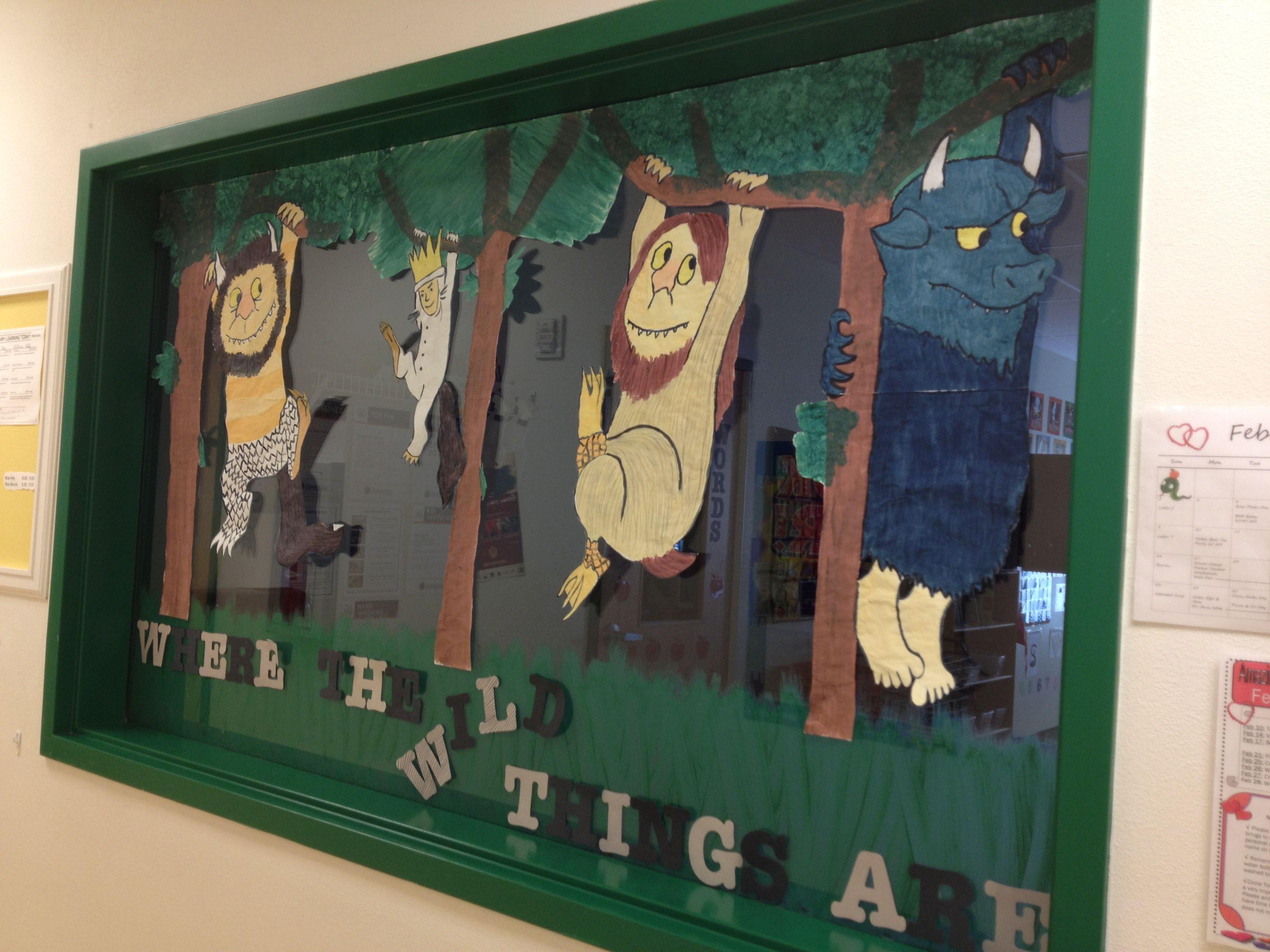Classroom window decoration  Where the Wild Things Are classroom window decoration for animal
