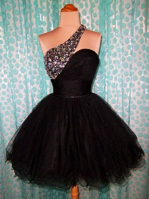 Black Poofy Short Dress Fashion Make Over Masquerade Dresses