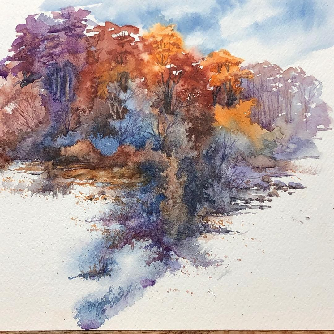 A Spontaneous Limited Palette Watercolorlandscape For An Episod Fine Art Landscape Photography Beautiful Landscape Photography Watercolor Landscape