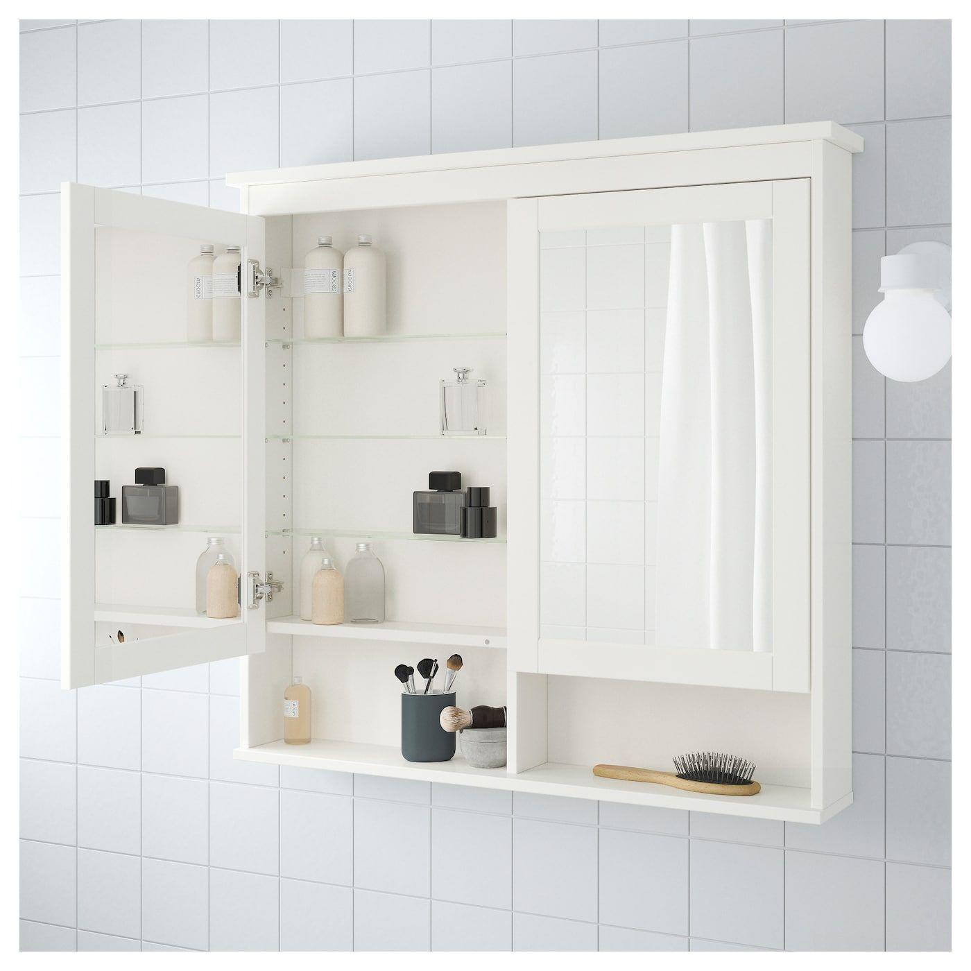 HEMNES Spiegelschrank 2 Türen weiß IKEA Deutschland