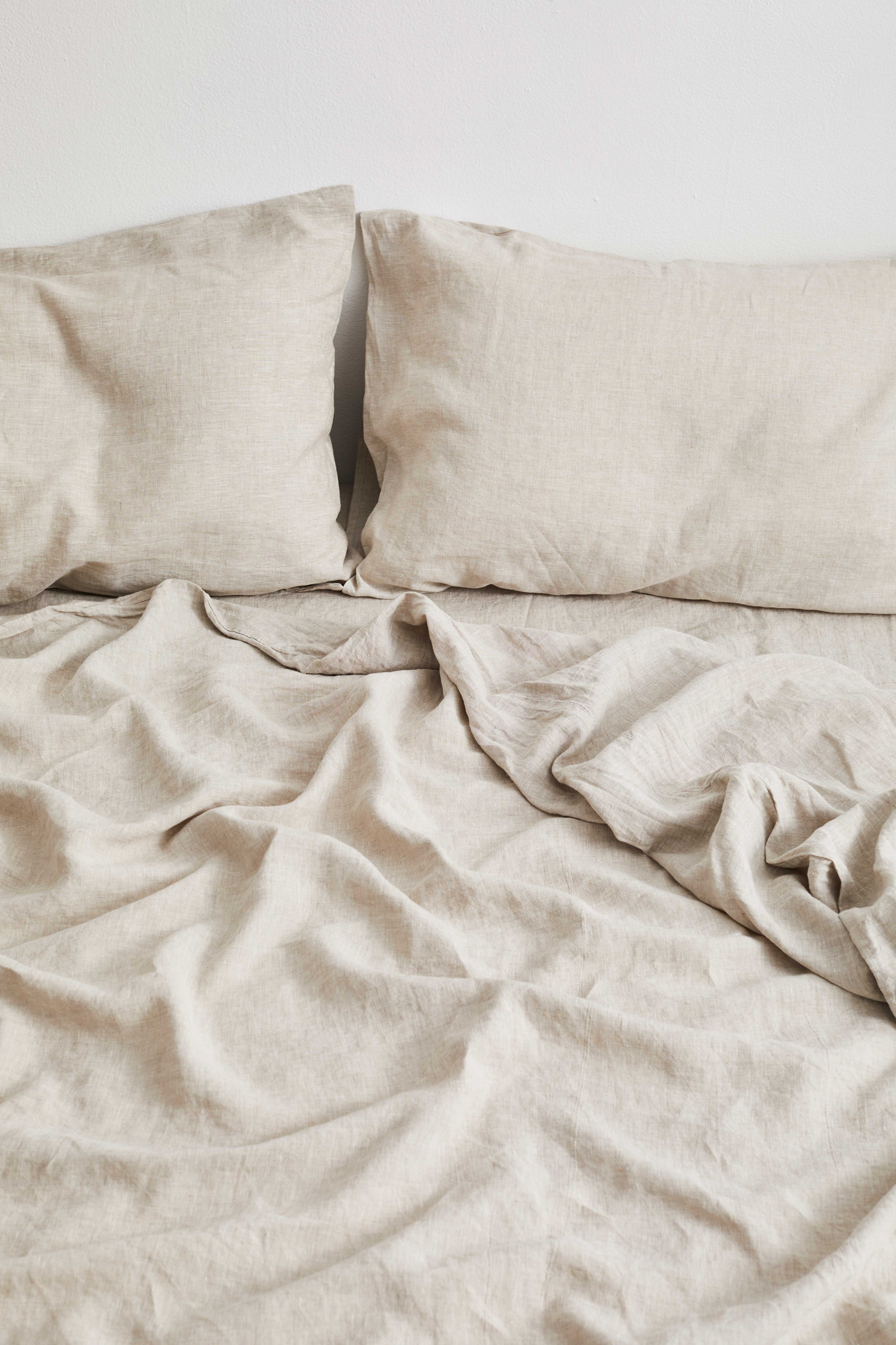 Oatmeal 100% Flax Linen Bedding Set