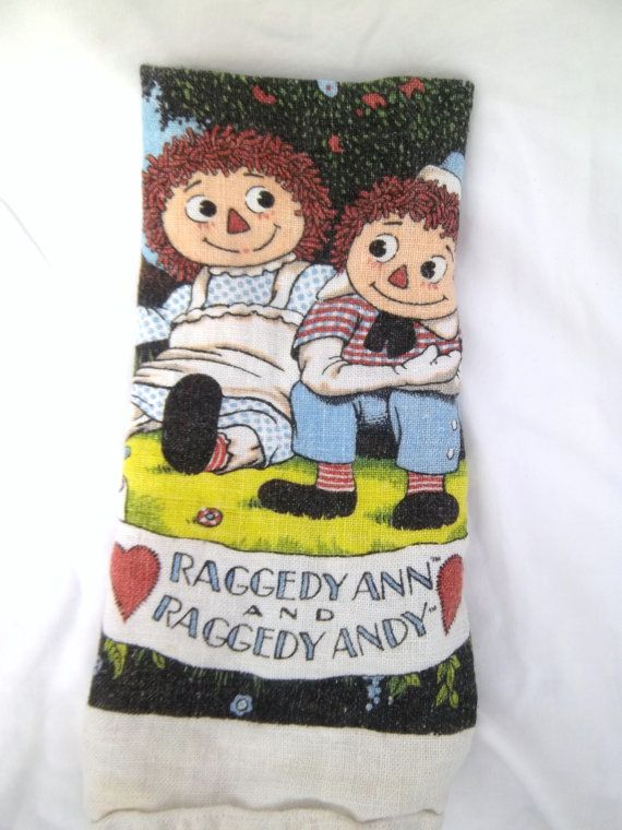 Vintage Raggedy Ann And Andy Dishtowel Wall Hanging By Jclairep 7 00 Raggedy Ann Y Raggedy Ann Dish Towels