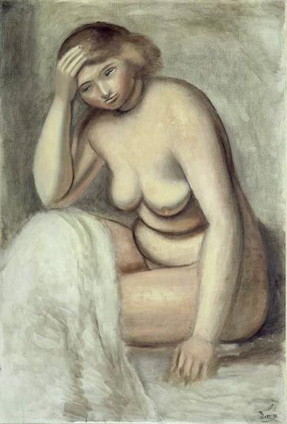 'Blonde Model', öl von André Derain (1880-1954, France)