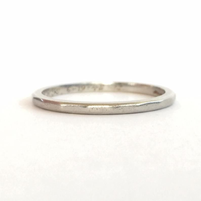 Wedding Jewelry Vintage Solid Gold Blossom Wedding Ring Milgrain Edge 1948 Bridal Ring 14K Art Carved Wedding Band