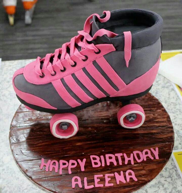 Roller Skate Cake Beautiful Cakes Pinterest Roller