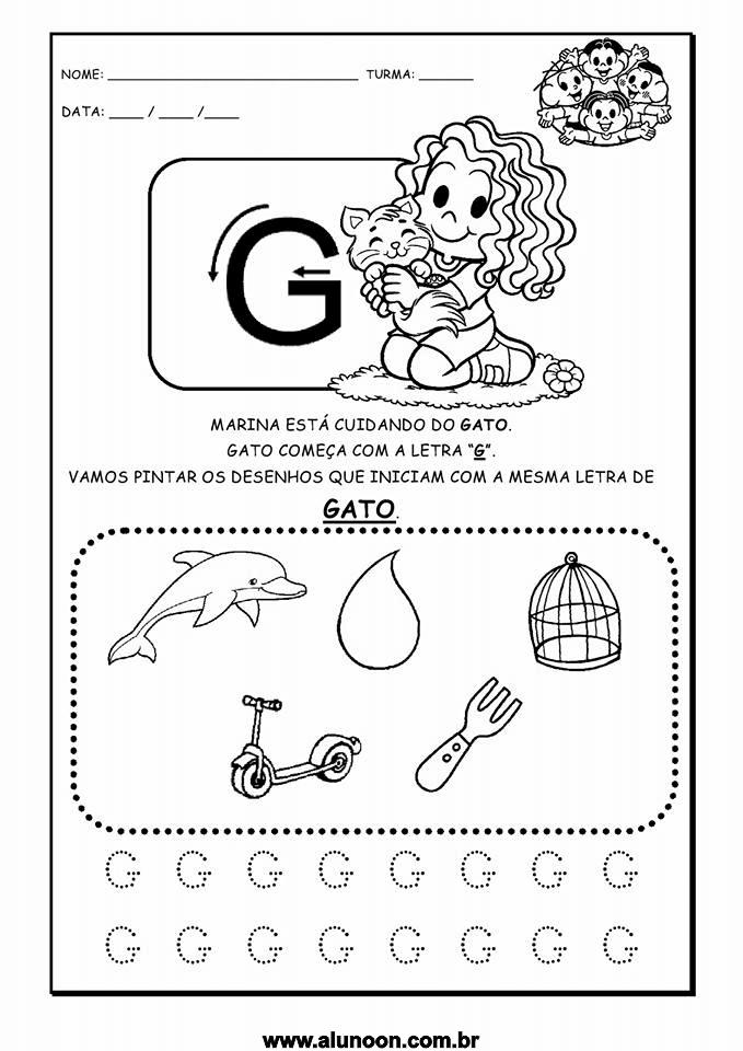 Resultado de imagem para atividades letra g educação infantil ...