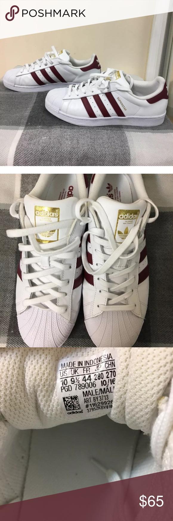 Adidas Superstar Superstar Original Adidas clásico blanco burdeos clásico   c7dc486 - grind.website